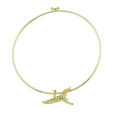 billige Mode Halskæde-Kort halskæde Fugl Damer Guld 41 cm Halskæder Smykker Til Fest / aften Skole