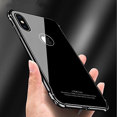 voordelige iPhone 6 hoesjes-hoesje Voor Apple iPhone X / iPhone 8 Plus / iPhone 8 Schokbestendig / Spiegel / Schild Achterkant Schild Hard Metaal