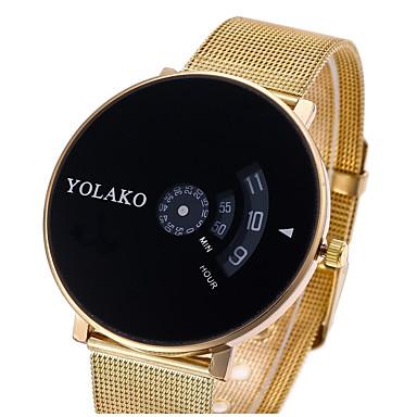 58d92adcf1a Mulheres Casal Relógio Casual Relógio Esportivo Relógio de Moda Quartzo  Prata   Dourada Relógio Casual Digital