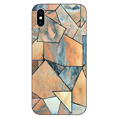 voordelige iPhone 6 Plus hoesjes-hoesje Voor Apple iPhone X / iPhone 8 Plus / iPhone 8 Transparant / Patroon Achterkant Marmer Zacht TPU