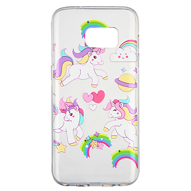 [$2.99] Case For Samsung Galaxy S7 Transparent Pattern Back Cover Unicorn Cartoon Soft TPU for S7