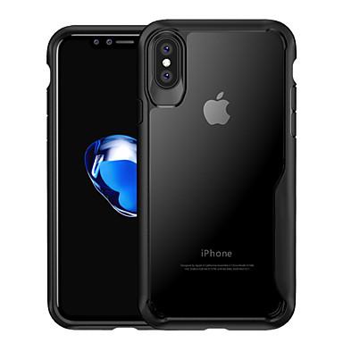Недорогие Кейсы для iPhone-Кейс для Назначение Apple iPhone X / iPhone 8 Pluss / iPhone 8 Защита от удара / Полупрозрачный Кейс на заднюю панель Однотонный Твердый ПК