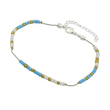 رخيصةأون مجوهرات الجسم-نسائي خلخال سيدات أساسي موضة التورمالين التقليد خلخال مجوهرات أزرق / زهري / أزرق فاتح من أجل مناسب للبس اليومي مناسب للعطلات
