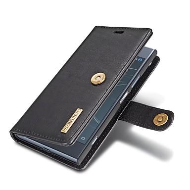 voordelige Hoesjes / covers voor Sony-hoesje Voor Sony Sony Xperia XZ1 Portemonnee / Kaarthouder / met standaard Volledig hoesje Effen Hard aitoa nahkaa