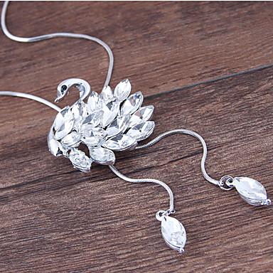 preiswerte Halsketten-Damen Pendant Halskette Lange Halskette Schwan Europäisch Modisch Aleación Silber 70 cm Modische Halsketten Schmuck Für Party