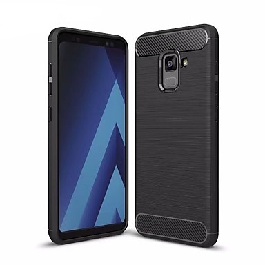 [$5.49] Case For Samsung Galaxy A7(2018) A5(2018) Shockproof Back Cover Solid Colored Soft TPU for A5(2018) A7(2018) A8+ 2018 A8 2018