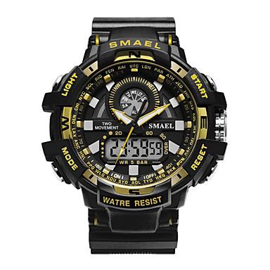 Χαμηλού Κόστους Ανδρικά ρολόγια-Ανδρικά Στρατιωτικό Ρολόι Ψηφιακό ρολόι Ιαπωνικά Συνθετικό δέρμα με επένδυση Μαύρο / Πράσινο 50 m Ανθεκτικό στο Νερό Ημερολόγιο Χρονογράφος Αναλογικό-Ψηφιακό Πολυτέλεια - Κόκκινο Πράσινο Μπλε