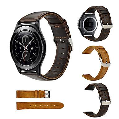 Недорогие Ремешки для часов Huawei-Ремешок для часов для Huawei Watch 2 Huawei Классическая застежка Натуральная кожа Повязка на запястье