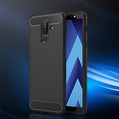 new styles fcb79 f2352 Case For Samsung Galaxy A6 (2018) / A6+ (2018) / A8 2018 Frosted Back Cover  Solid Colored Soft TPU