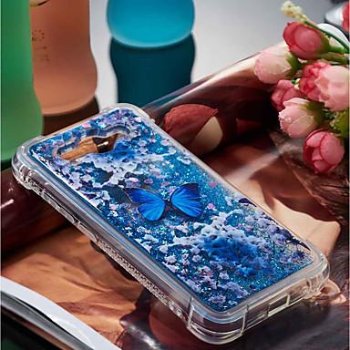 voordelige Huawei Y-serie hoesjes / covers-hoesje Voor Huawei Huawei Y7 Prime(Enjoy 7 Plus) / Huawei Y7(Nova Lite+) / Huawei Y6 (2017)(Nova Young) Schokbestendig / Stromende vloeistof / Patroon Achterkant Vlinder Zacht TPU