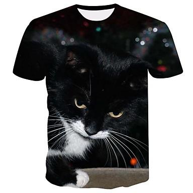 9d1d9a98186b Χαμηλού Κόστους Ανδρικά μπλουζάκια και φανελάκια-Ανδρικά Μεγάλα Μεγέθη T- shirt Βασικό Ζώο Στρογγυλή