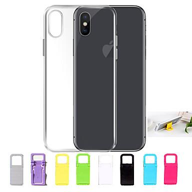 Capinha Para Apple iPhone X / iPhone 8 / iPhone 7 Ultra-Fina / Transparente Capa traseira Sólido Macia TPU para iPhone X / iPhone 8 Plus