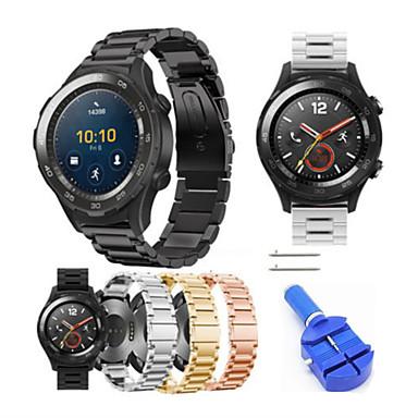 Недорогие Ремешки для часов Huawei-Ремешок для часов для Huawei Watch 2 Huawei Современная застежка Нержавеющая сталь Повязка на запястье