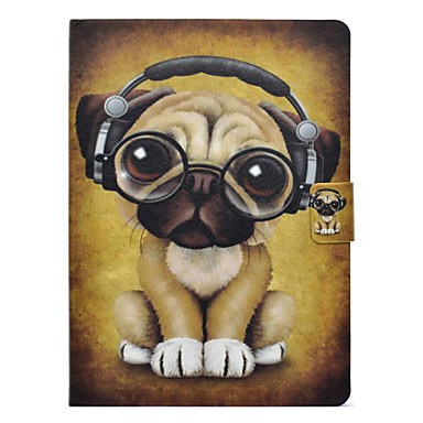 voordelige Samsung Tab-serie hoesjes / covers-hoesje Voor Samsung Galaxy Tab 3 10.1 Kaarthouder / Schokbestendig / met standaard Volledig hoesje Hond Hard PU-nahka
