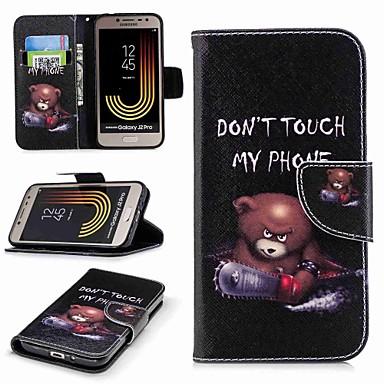 voordelige Galaxy J-serie hoesjes / covers-hoesje Voor Samsung Galaxy J7 (2017) / J7 (2016) / J7 Portemonnee / Kaarthouder / met standaard Volledig hoesje Woord / tekst Hard PU-nahka