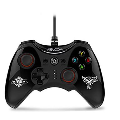 olcso Videojáték tartozékok-WE-888S Vezetékes játékvezérlő Kompatibilitás PC ,  Rezgés játékvezérlő ABS 1 pcs egység