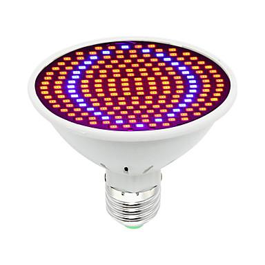 1pc 30W 1600lm E26 / E27 Büyüyen ampul 200 LED Boncuklar SMD 5730 Dekorotif Mavi Kırmızı 85-265V