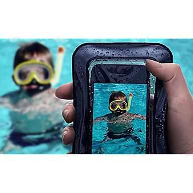voordelige iPhone 5 hoesjes-hoesje Voor Apple iPhone X / iPhone 8 Plus / iPhone 8 Waterbestendig / Doorzichtig Buideltas Effen Zacht ABS + PC