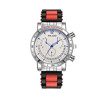 نسائي ساعة المعصم كوارتز سيليكون أسود / الأبيض / أزرق ساعة كاجوال مماثل سيدات موضة - الأبيض / الأزرق أسود / رمادي أبيض / أحمر