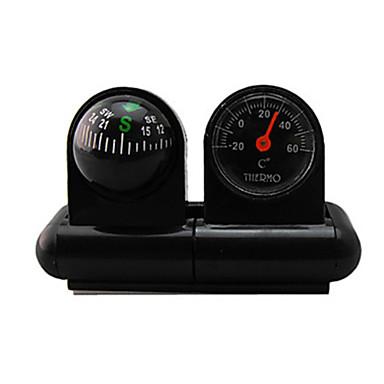 voordelige Sleutelhangers-auto kompas met thermometer bel auto decoratieve zak bal voertuig gedragen type wijzende gids