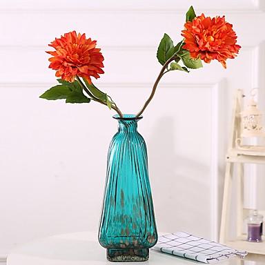 زهور اصطناعية 2 فرع كلاسيكي فردي أسلوب بسيط الحديث الزنابق بتلات الزهور الخالدة أزهار الطاولة