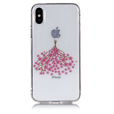 X Fantasia IMD X iPhone Custodia retro per Transparente Apple TPU iPhone 8 8 Per decorativo Per 06769327 disegno 8 iPhone Fiore Morbido Plus iPhone iPhone Cwxt8xUYq