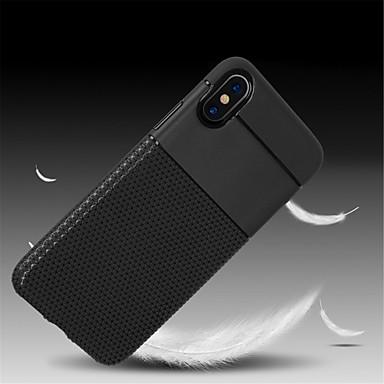 voordelige iPhone 6 hoesjes-hoesje Voor Apple iPhone X / iPhone 8 Plus / iPhone 8 Reliëfopdruk Achterkant Effen Zacht TPU