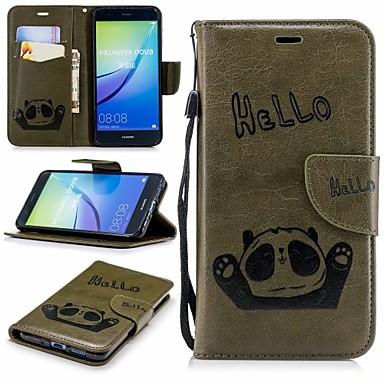 غطاء من أجل Huawei P10 Lite محفظة / حامل البطاقات / مع حامل غطاء كامل للجسم باندا قاسي جلد PU