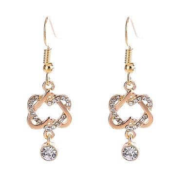 6c57d78c0 cheap Earrings-Women's Long Drop Earrings Rhinestone Earrings Flower  Ladies Stylish