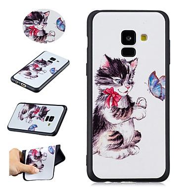 غطاء من أجل Samsung Galaxy A8 2018 / A5 (2018) نموذج غطاء خلفي قطة ناعم TPU إلى A5(2018) / A8 2018 / A5(2016)