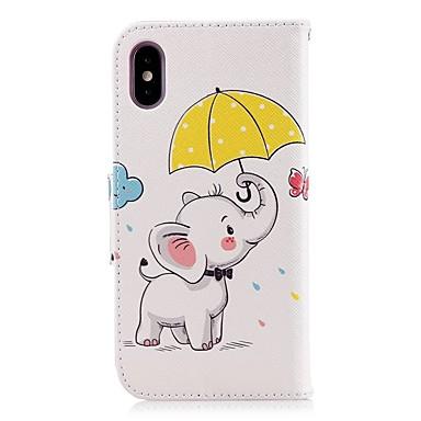 iPhone supporto Resistente Elefante carte Custodia X Integrale portafoglio Con 06721465 di credito Apple Porta pelle Per iPhone 8 Plus A nTFT64