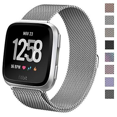 حزام إلى Fitbit Versa فيتبيت عصابة الرياضة / عقدة ميلانزية معدن شريط المعصم