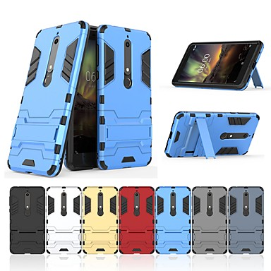 072f5a6ff0 Case For Nokia Nokia 6 2018 with Stand Back Cover Solid Colored Hard PC for  Nokia