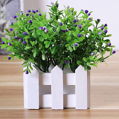 زهور اصطناعية 1 فرع كلاسيكي زهري نباتات أزهار الطاولة