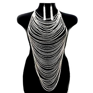 preiswerte Körperschmuck-Stilvoll Körper-Kette / Bauchkette 18 karat Gold gefüllt Kreativ Erklärung, damas, Modisch Damen Gold / Silber Körperschmuck Für Klub / Bar