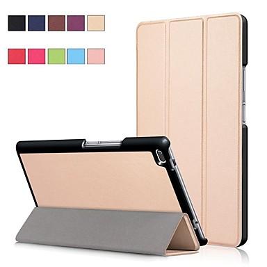 غطاء من أجل Lenovo Lenovo Tab 4 8 مع حامل / مغناطيس غطاء كامل للجسم لون سادة قاسي جلد PU