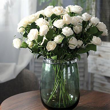 زهور اصطناعية 1 فرع كلاسيكي أوروبي الحديث Camellia أزهار الطاولة