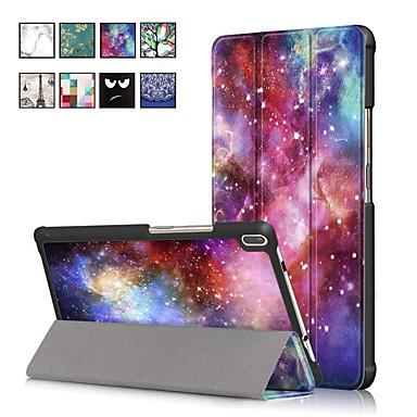 غطاء من أجل Lenovo Lenovo Tab 4 8 Plus / Lenovo Tab 4 8 مع حامل / مغناطيس غطاء كامل للجسم رسم زيتي قاسي جلد PU