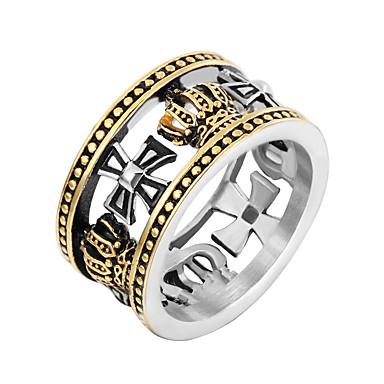 رجالي خاتم البيان 1PC ذهبي فضي الفولاذ المقاوم للصدأ بانغك شائع هيب هوب نادي الحانة Bar مجوهرات كرة الديسكو كوول