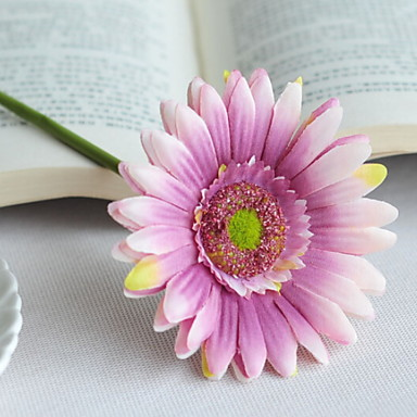 زهور اصطناعية 1 فرع فردي زهري أقحوان أزهار الأرض