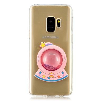 Недорогие Чехлы и кейсы для Galaxy S6 Edge-Кейс для Назначение SSamsung Galaxy S9 / S9 Plus / S8 Plus Движущаяся жидкость Кейс на заднюю панель Мультипликация Мягкий ТПУ