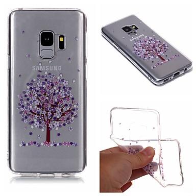 غطاء من أجل Samsung Galaxy S9 / S9 Plus / S8 Plus IMD / شفاف / نموذج غطاء خلفي شجرة / زهور ناعم TPU