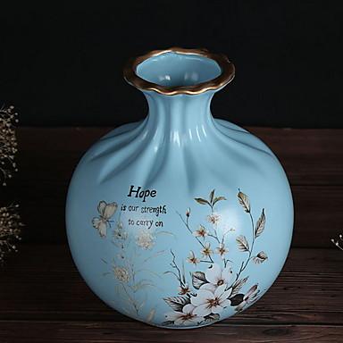 زهور اصطناعية 1 فرع كلاسيكي أنيق المزهرية أزهار الطاولة / واحدة زهرية