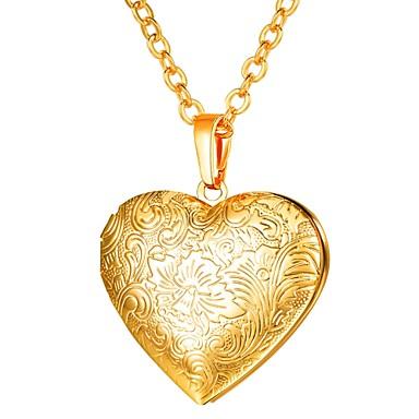 Dam Lång Hänge Halsband Berlock Hjärta damer Romantisk Gotiskt Heart Guld  Silver Rosguld 55 cm Halsband 0034a5b7645c9