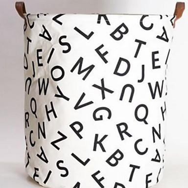 قماش دائري نمط هندسي / مضحك الصفحة الرئيسية منظمة, 1PC حقائب التخزين