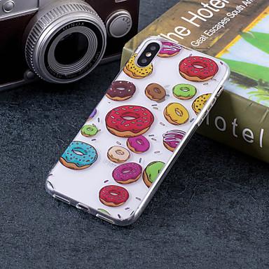 غطاء من أجل Apple iPhone X / iPhone 8 Plus / iPhone 8 IMD / نموذج غطاء خلفي مأكولات ناعم TPU