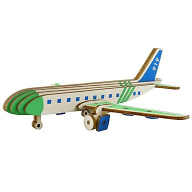 قطع تركيب3D طائرة التفاعل بين الوالدين والطفل خشبي 1 pcs الأطفال الجميع هدية