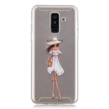 غطاء من أجل Samsung Galaxy A6 (2018) / A6+ (2018) / A3 (2017) شفاف / نموذج غطاء خلفي امرآة مثيرة ناعم TPU
