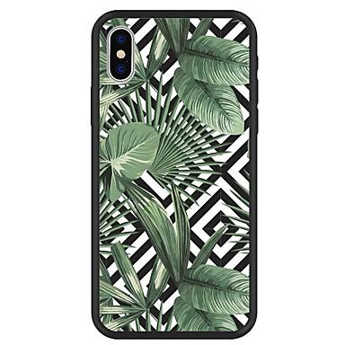 voordelige iPhone 5 hoesjes-hoesje Voor Apple iPhone X / iPhone 8 Plus / iPhone 8 Patroon Achterkant Planten / Geometrisch patroon / Cartoon Hard Acryl