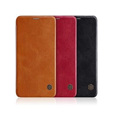 غطاء من أجل Xiaomi Xiaomi Mi 8 حامل البطاقات / قلب / النوم / الإيقاظ التلقائي غطاء كامل للجسم لون سادة قاسي جلد PU
